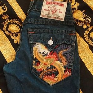 True Religion embroidered jeans s 28.